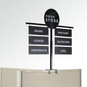 aisle signage end cap